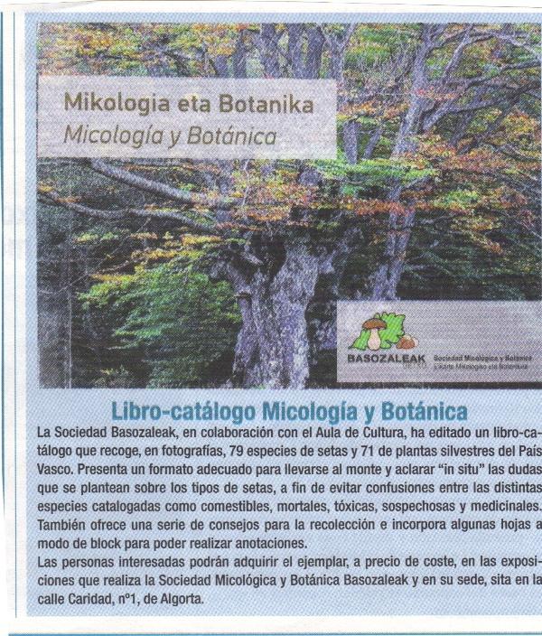 LIBRO MICOLOGICO Y BOTANICO